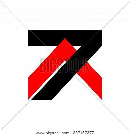 Number 7 Arrow Geometric Logo Vector Unique Unusual Concept Design