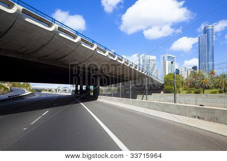 Empty freeway - Ayalon freeway