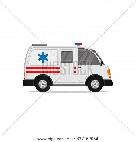 Ambulance Vector Icon, Urgent Ambulance Icon, Illustration Of Ambulance Flat Design That Is Prioriti
