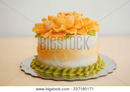 Cake. Beautiful Cake ready to be served at a party or event. Cake is enjoyed world wide for any special occasion and even as a special treat. Enjoy some cake today.