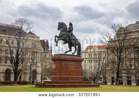 Hungary - March 08, 2019: Statue Of Ferenc Rakoczi