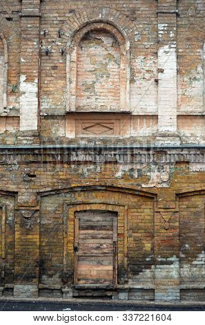 Urban decay. Historical buiding. Kiev, Ukraine