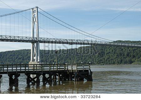 Poughkeepsie Bridge over hudson river