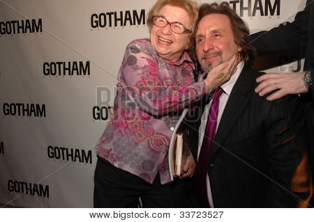 Dr. Ruth and Ron Silver at Gotham Magazine's Sixth Annual Gala with Hosts Rudy and Judith Giuliani February 6, 2006 - Capitale New York City, New York United States