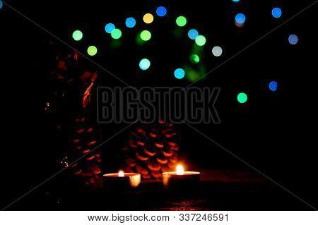Kutlama Ve Eğlenceler Için Renkli ışıklı Bokeh Arka Plan
