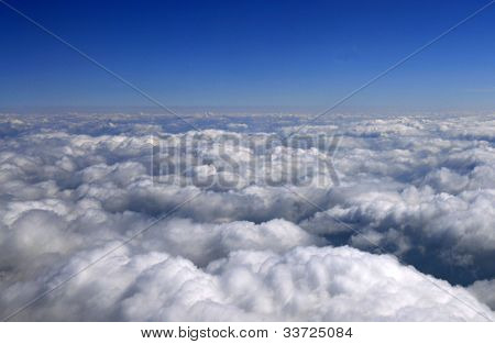 sky over clouds