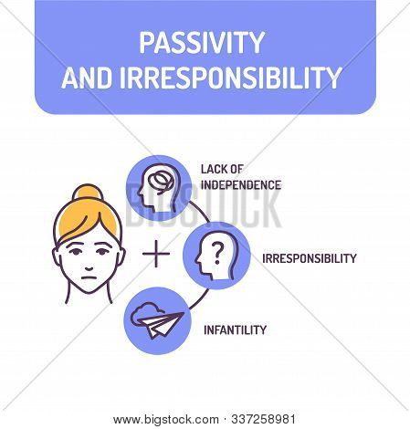 Passivity And Irresponsibility Color Line Icon. Condition Of Being Inactive. Quality Of Not Being Tr