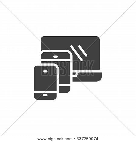 Modern Digital Devices Vector Icon. Filled Flat Sign For Mobile Concept And Web Design. Laptop With