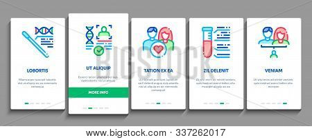 Paternity Test Dna Onboarding Mobile App Page Screen. Man And Woman Silhouette, Chemistry Laboratory