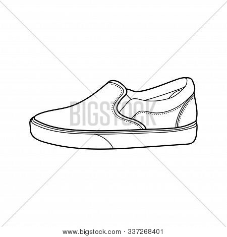 Shoe Icon Trendy And Modern Shoe Symbol, Sneakers Outline Icon Design Vector Isolated White Backgrou