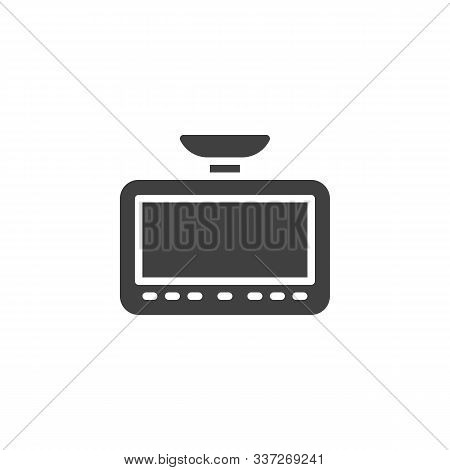 Dvr Camera Touchpad Vector Icon. Filled Flat Sign For Mobile Concept And Web Design. Car Drive Video
