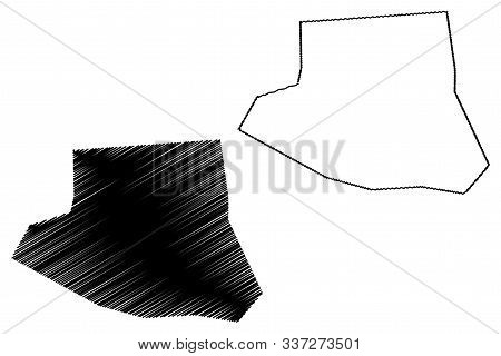 Farwaniya Governorate (state Of Kuwait, Governorates Of Kuwait) Map Vector Illustration, Scribble Sk