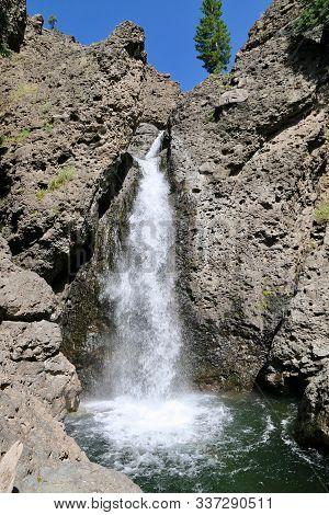 Piedra Falls In San Juan National Forrest In Colorado