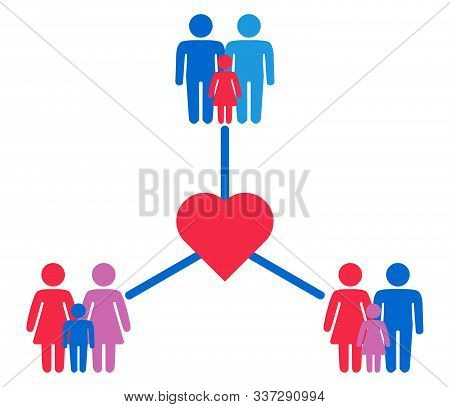 Schematic Representation Of Family Variations Heterosexual, Gay Men And A Pair Of Lesbian Women With