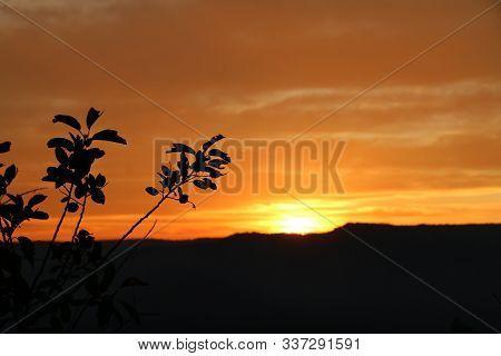 Sunset In San Juan National Forrest In Colorado