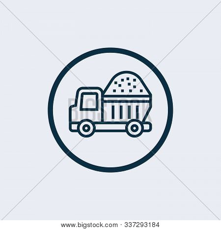 Dump Truck Vector Icon On White Background. Flat Vector Dump Truck Icon Symbol Sign From Modern Cons