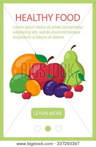 Healthy Food Web Banner Template Design. Fresh Vegetarian