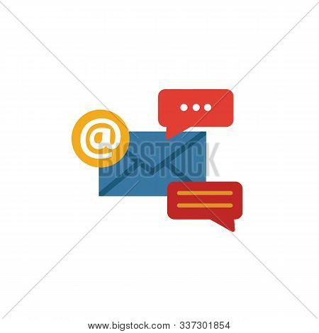 Email Marketing Icon Set. Four Elements In Diferent Styles From Online Marketing Icons Collection. C