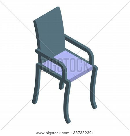 Patio Chair Icon. Isometric Of Patio Chair Vector Icon For Web Design Isolated On White Background