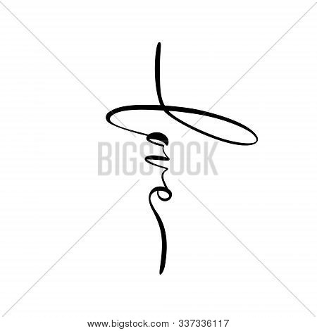 Love, Hand Written Vector Calligraphy Lettering Text In Cross Shape Form. Christianity Concept Word