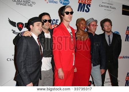 LOS ANGELES - MAY 18: Michael Fitzpatrick, Fitz and the Tantrums at the 19th Annual Race to Erase MS gala held at the Hyatt Regency Century Plaza on May 18, 2012 in Century City, California