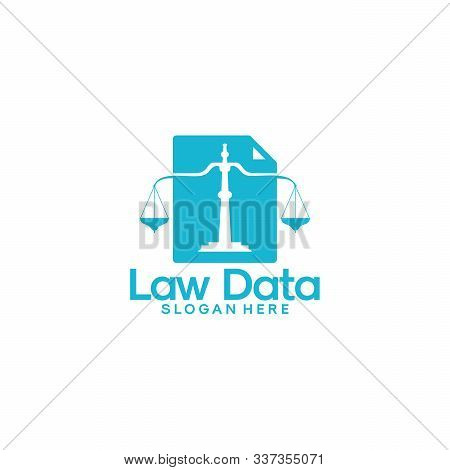 Arbitrators Document Logo Template, Law Data Logo Designs Vector