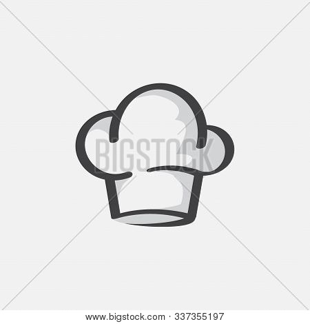 Hat For Chef Kitchens, Chef Hat Icon Vector, Chef Cap Design