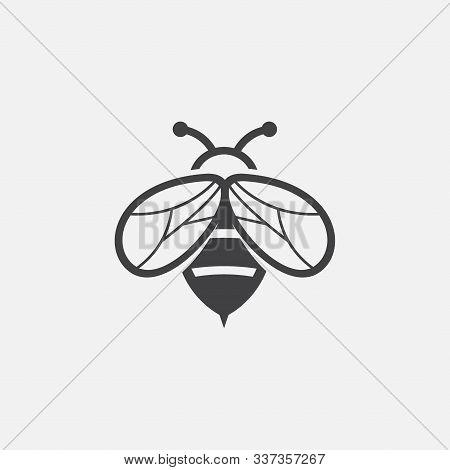 Bee Icon Logo Design Inspiraiton, Unique Geometric Bee Logo Symbol Vector Design Illustration, Honey