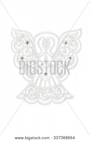 Angel ornament isolated on white