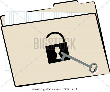 Carpeta de archivo abierto W Key.