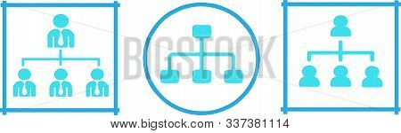 Organizational Structure Icon On White Background Resources, Sitemap