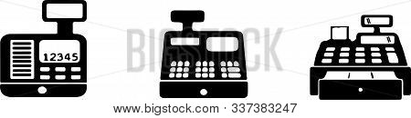 Cash Register Icon On White Background Supplier, Vector, Web