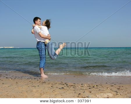 Couple. On Neck. Sea