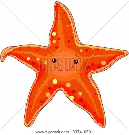 Illustration of starfish under the sea