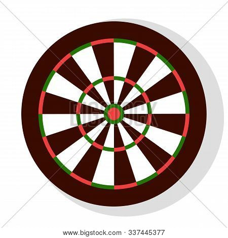 Darts Game, Colorful Round Dartboard With Stripes, Element Of Bachelor Party Or Entertainment. Leisu