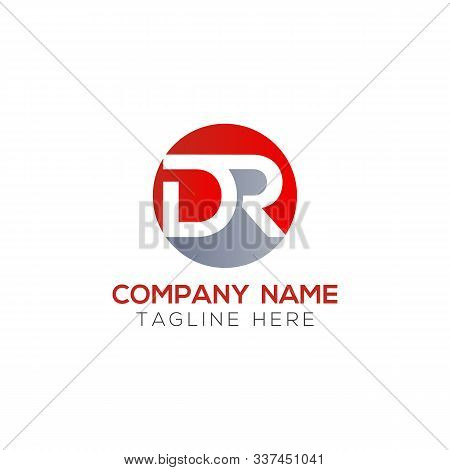 Initial Dr Letter Logo With Creative Modern Business Typography Vector Template. Creative Abstract L