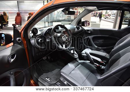 Frankfurt, Germany, September 13-2017: Smart Fortwo Cabrio Brabus At Iaa 2017
