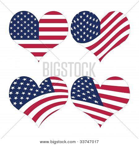 American Flag Illustration