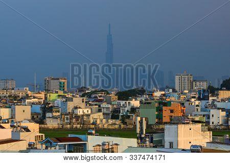 Saigon, Vietnam - Nov 21, 2019. Cityscape Of Downtown By Evening In Saigon (ho Chi Minh City), Vietn
