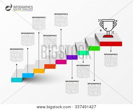 Infographic Design Template. Creative Concept With 9 Steps. Can Be Used For Workflow Layout, Diagram