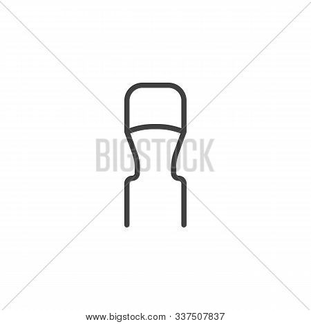Resistor, Semiconductor Line Icon. Linear Style Sign For Mobile Concept And Web Design. Electronic C