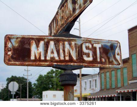 Vintage Main Street Sign