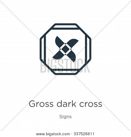 Gross Dark Cross Icon Vector. Trendy Flat Gross Dark Cross Icon From Signs Collection Isolated On Wh