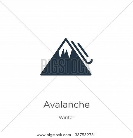 Avalanche Icon Vector. Trendy Flat Avalanche Icon From Winter Collection Isolated On White Backgroun