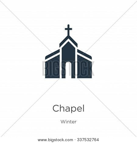 Chapel Icon Vector. Trendy Flat Chapel Icon From Winter Collection Isolated On White Background. Vec