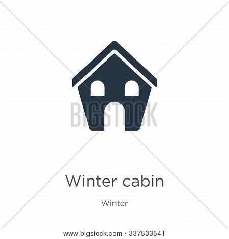 Winter Cabin Icon Vector. Trendy Flat Winter Cabin Icon From Winter Collection Isolated On White Bac