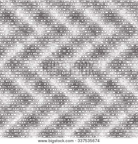 Brushed Worn Black And White Grunge Motif Pattern