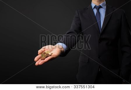 Business Man With Money In His Hands