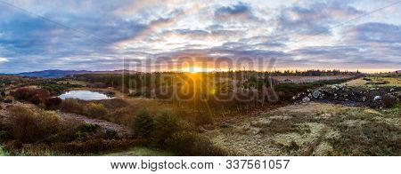 Sunrise Over A Peatbog In County Donegal - Ireland