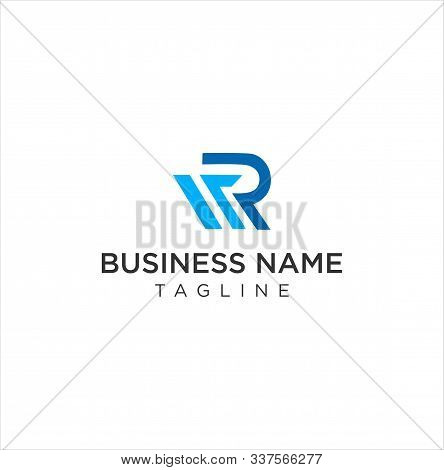 Letter R M Logo Icon Design Vector Stock